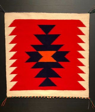 Navajo Germantown Sampler Blanket / Rug,  C1890 - 1910,  Nr