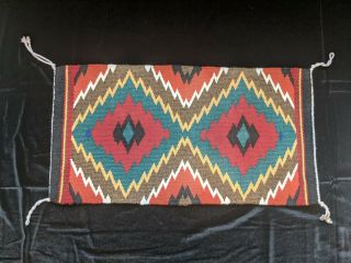 Germantown Revival Navajo Wool Rug Hand Woven By Suzy Joe.