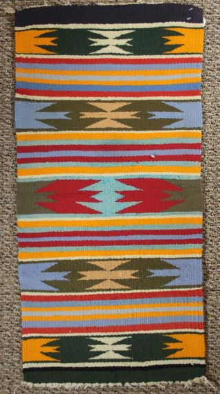"Navajo Rug Gallop Throw 18 "" X 35 1/2 """