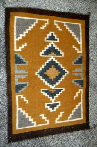 Navajo Rug From Hubbell Trading Post Circa 1970,  Vg,  As A Wall Hanging 1