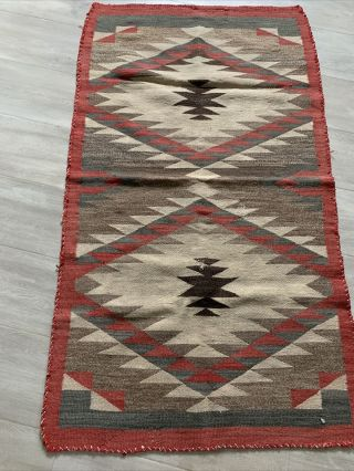 Vintage Navajo Rug Damage And Old