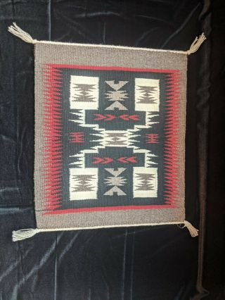 Navajo Wool Rug Handwoven By Doris Duncan.