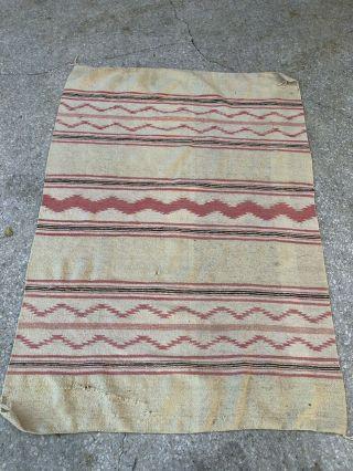 Older Wide Ruins Navajo Textile Weaving Rug Handwoven 64 X 46""