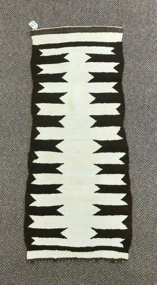 "Navajo Weaving (rug) 16 "" X 37.  5 "" Table Runner (native American Handmade)"