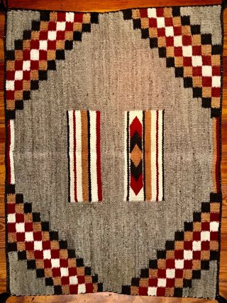 Fine Navajo Single Saddle Blanket/rug,  Stepped Crosses Designs,  C1935,  Nr