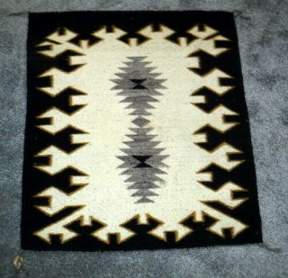 Navajo Rug,  Vg Part Trading Post Sales Tag Attached,  Two Grey Hills? 3
