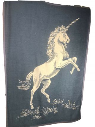 Vuteks Unicorn Large Blanket Crown Craft Vintage Reversible Blue