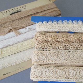 "2 Bolts Vintage Val,  Embroidered Lace Trims 1/2 "" - 1 1/4 "" Wide Apx 50 Yds Dolls"