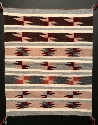 Exceptional Navajo Wide Ruins Banded Rug,  A Mid 20th C Gem,  Nr