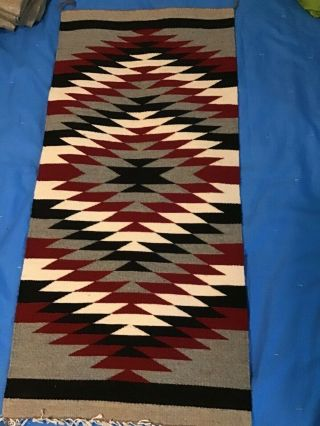 Native American Indian Handmade Wool Rug Tapestry