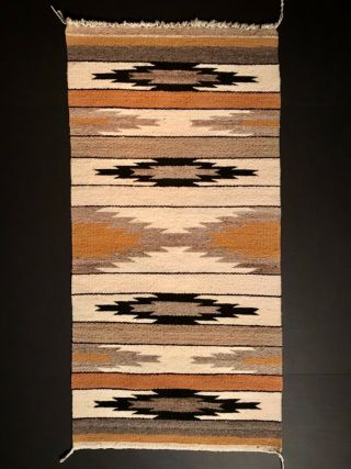 Pristine Navajo Gallup Throw / Rug,  Intense Colorful Saltillo Designs,  C1940,  Nr