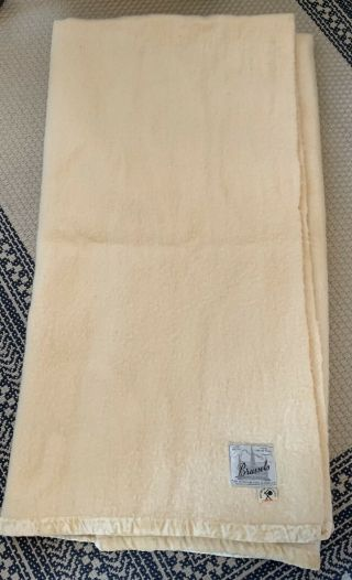 Vintage Brussels Virgin Wool Blanket Cream 100 Virgin Wool