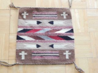 "Vintage Navajo Indian "" Chinle "" Pictorial Rug Blanket Weaving - Sampler"