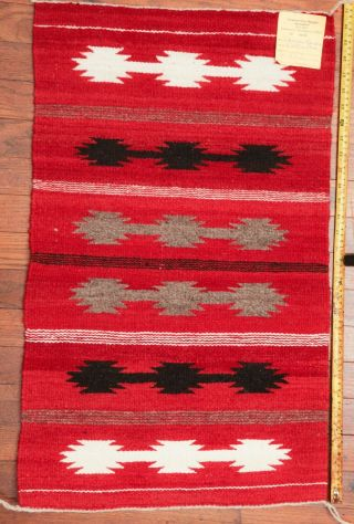 Navajo Rug Handwoven 30x18 Crownpoint Weaver Association Mexico Wall Hanging