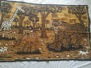 """Authentic African Handwoven Pictured Mud Cloth Fabric From Mali 64 """" By 39 """""""