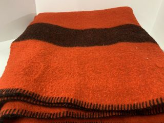 Vintage Wool Blanket The Old Mill Glen Laine - Red - Nearly Perfect