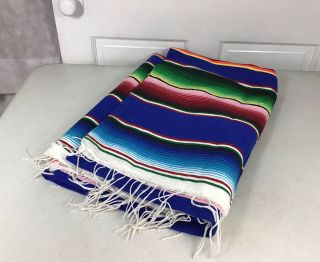 Mexican Wool Blanket Style Stripes Bright Colors Native Serape