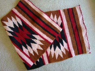 Old Hand Woven Native American Indian Saddle Blanket Rug Textile