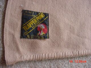 Huge Old Trapper Point Wool Indian Trade 5 Point Blanket 89 By 82