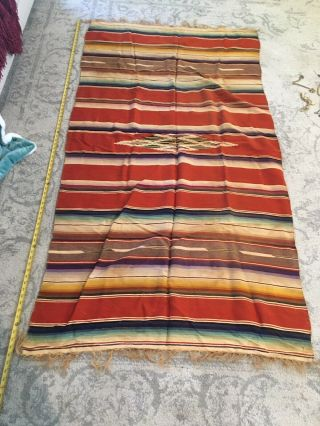 Vintage Mexican Indian Blanket 1930's