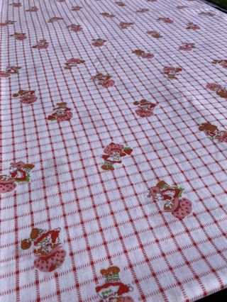 """Vintage Strawberry Shortcake Fabric 44 """" Wide By 4.  75"""" Yards Long Cotton Sewing"""
