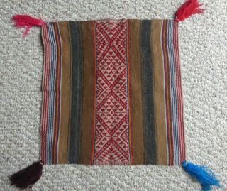 Peruvian Aguayo Table Cloth Unkuña - Andean Mountain Textile
