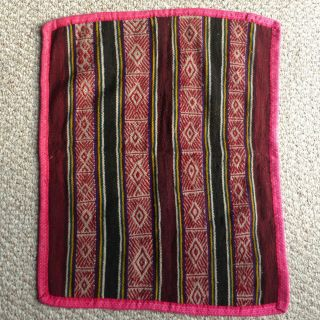 Peruvian Handwoven Aguayo Table Cloth - Andean Mountain Textile
