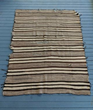 Navajo Banded Chinle Transitional Blanket/rug 1880s