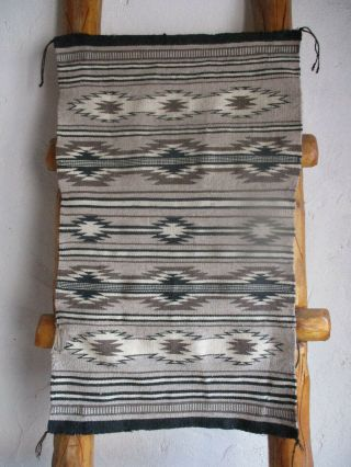 Authentic Small Chinle Natural Dye Navajo Textile Older Rug