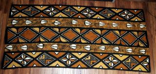 "Bogolanfini Mudcloth Mud Cloth Fabric From Mali - Large 90 "" X 42 "" 4 Color"