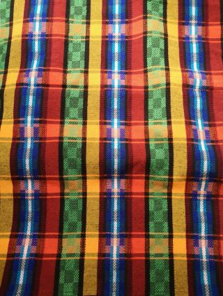 Guatemalan Handmade Multi - Color Tablecloth For 6 - 8 Iron Table Cover Fabric