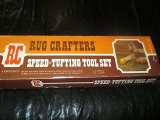Rug Crafters Vintage Speed - Tufting Tool Set Punch Needle & Shag Cutter - 1970