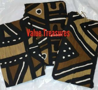 """Authentic African Mud Cloth Fabric Mali Approx 45""""x63"""" 4 Color Bambara Mudcloth"""