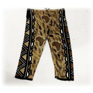 Authentic African Mud Cloth Pants Hand Made In Mali - Adjustable One Size Fits