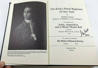 British Signed The Kings Royal Regiment Of York Reference Book