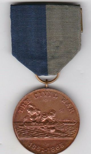 Us Navy Civil War Campaign Service Medal Not Numbered
