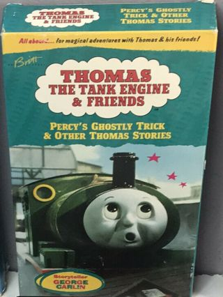 Thomas The Tank Engine Percy Ghostly Trick Vhs Video Tape Vtg Nearly