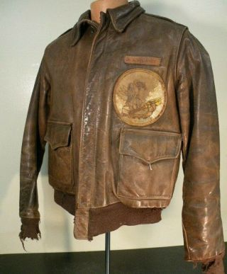 Wwii Painted A - 2 Jacket - 15th Aaf