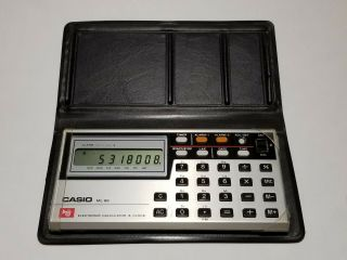 Vintage Casio Ml - 88 Melody Calculator And Clock Still Has Plastic Wrapping