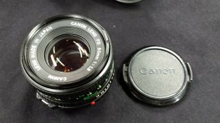 Vintage Canon Camera Lens Fd 50mm F 1:1.  8 Slr Made In Japan With A Case