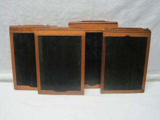 4 Vintage 5 X 7 Wooden Glass Dry Plate Film Holders