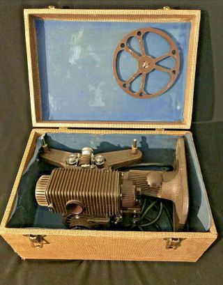 """Vtg Revere Eight """"85"""" 8mm Movie Projector & Case - Steampunk - Tested/working - F/ship"""