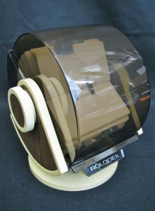 Vintage Rolodex Rotary Business Card File W/ Swivel Base Model No.  Sw - 24c