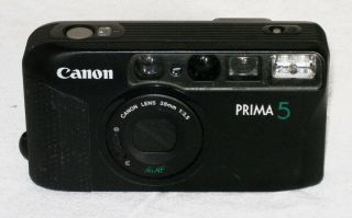 Vintage Compact 35mm Af Camera Canon Prima 5 Is One Vintage Compact 35