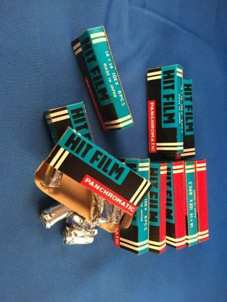 Vintage Mini Spy Camera Film,  10 Boxes With Total Of 60 Rolls Of Mini Film