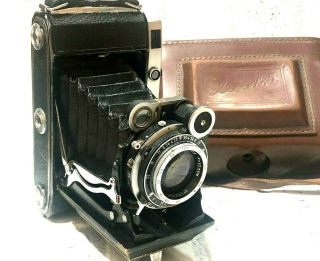 Vintage Camera Moskva - 5 5744232 Folding Rangefinder Soviet Film Camera 1957