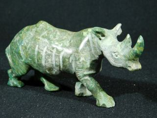 A Larger Rhinoceros Or Rhino Verdite Carving From The Congo 171gr