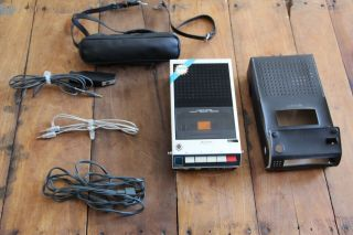 Vintage Sony Cassette Recorder Tc - 110a With Accessories