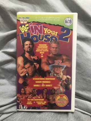 Wwf In Your House 2 Silvervision Coliseum Home Video Vhs.  Rare.  Vintage Wwe