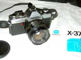 Vintage Minolta Xg 7 35mm Slr Camera W/strapmd Rokkor - X1:14 F==50mm Lens Japan